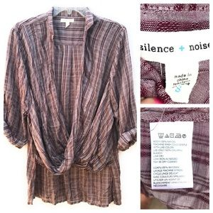 Silence + Noise Draped Shirt